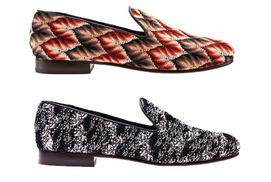 Muzungu Sisters are using leftover Missoni fabric for these shoes.  10% of profits go to Small Steps Project charity.