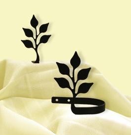 Leaf curtain tie backs