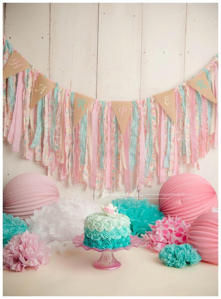 Tea Party Cake Smash | Chesapeake First Birthday Photographer | Kimberlin Gray PhotographyPremier Newborn & Family Photographer in Virginia Beach