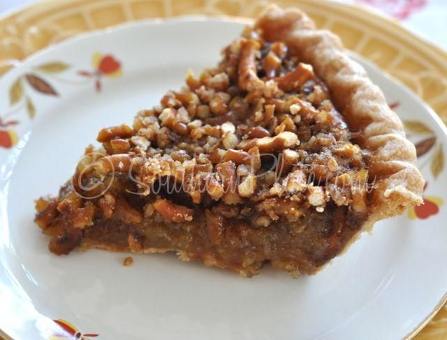 Faux Pecan Pie (made with Pretzels!) ~ Rich, buttery, delicious. Unlike any other. This Faux Pecan Pie lives up to all of those expectations!