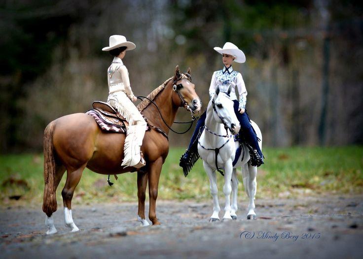 Model horse scene by Mindy Berg