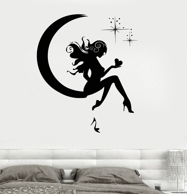 Wall Vinyl Sticker Moon and Stars Fairy Tales Magic Kid's Room Decor (3231)