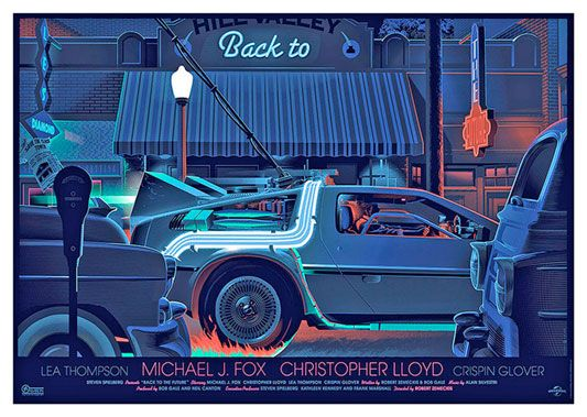 Back to the Future Movie Poster, available at 45x32cm. This poster is printed on matt coated 350 gram paper.