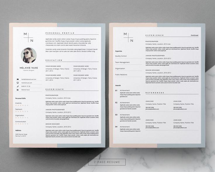 50 best Resume + CV Layouts images on Pinterest Resume cv - fashion resume templates