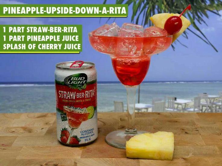 1 part strawberita,1 part pineapple, a splash of cherry juice