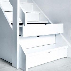 Not enough storage? Use stair drawers! Super idee voor te weinig ruimte