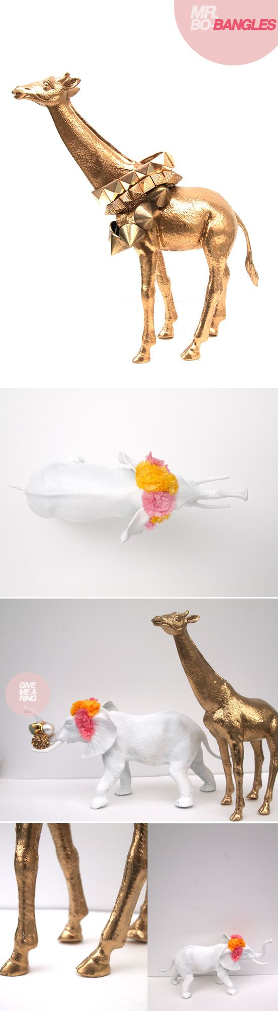 Toy animal jewelry stands