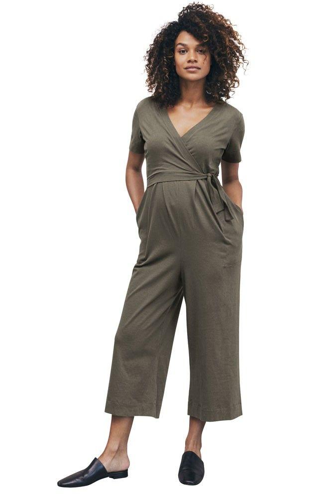 0e8da6e119941 Boob Design Amelia Organic Maternity & Nursing Jumpsuit (Olive leaf) Maternity  Nursing
