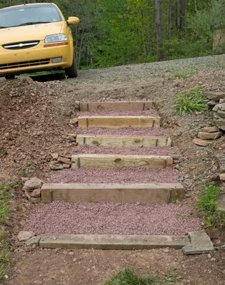 17 best images about landscape ideas on pinterest trees for How to build a house on a steep slope