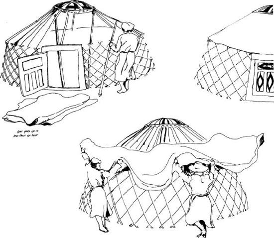 Build A Mongolian Yurt |  For lesson on Mongolia