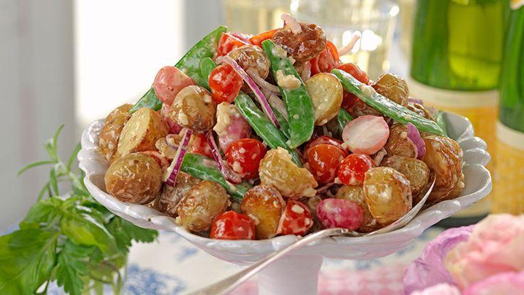 Recept rostad potatissallad med rädisor