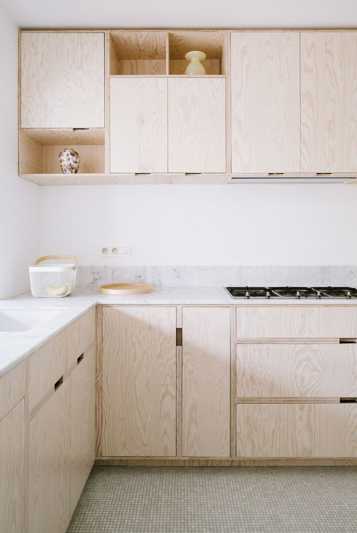Plywood cabinets - simple design #kitchen