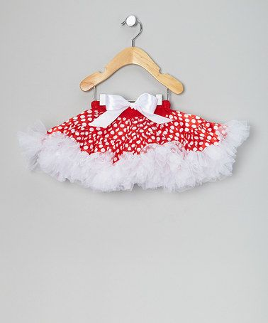 Red & White Polka Dot Pettiskirt - Infant, Toddler & Girls by Ella's Tutus on #zulily