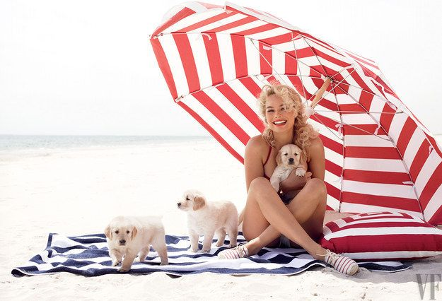 Oh and did we mention the puppies? | The Only Thing Better Than Margot Robbie Is Margot Robbie With Puppies