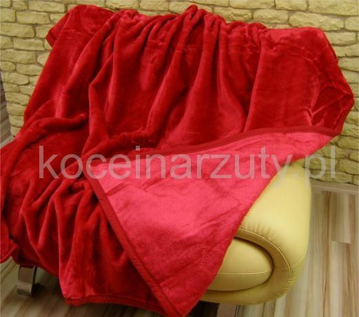 Koce akrylowe jednokolorowe czerwone