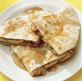 "Peanut Butter and Banana ""Quesadillas"" 