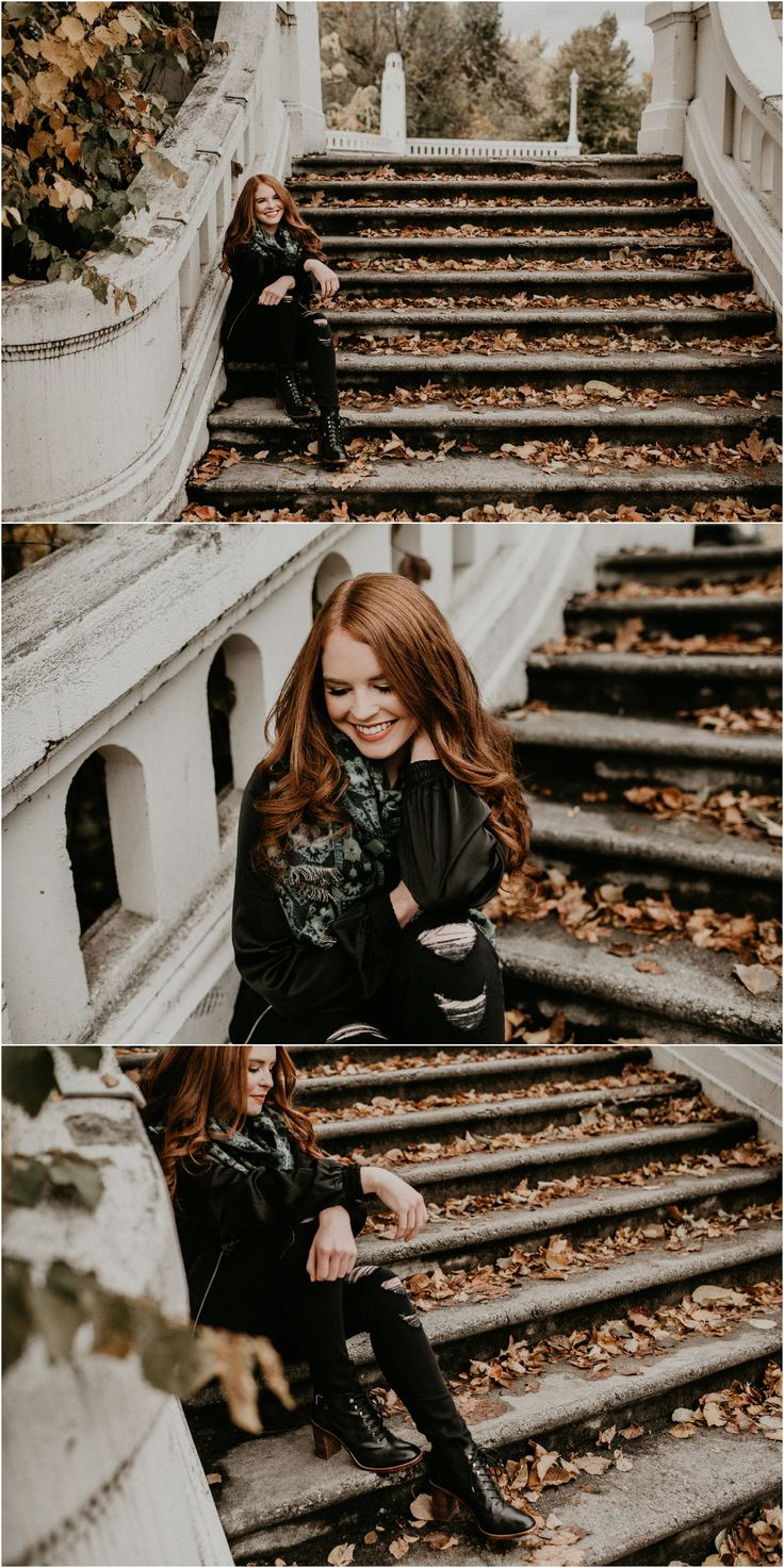 Boise Senior Photographer // Makayla Madden Photography // Eagle High Senior // Red Head // Fall Senior Pics // Fall Senior Picture Outfit and Location Ideas and Inspiration // Urban Senior Pictures //