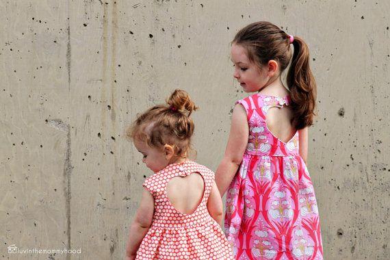 Sweetheart Dress Sewing PDF PATTERN for Girls 2T-6T