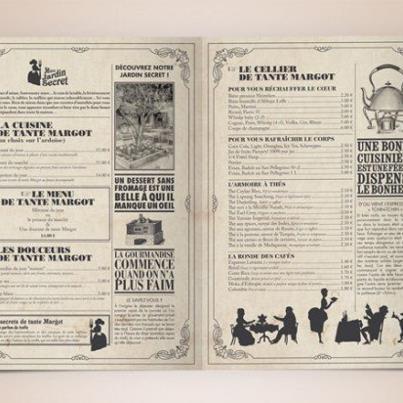 Cartas: Menu Design, Bakerman Menu