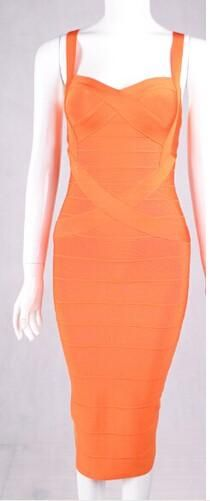 Bodycon Bandage Dress Women Spaghetti Straps Criss Cross Vestidos Mid Calf Summer Party Dresses