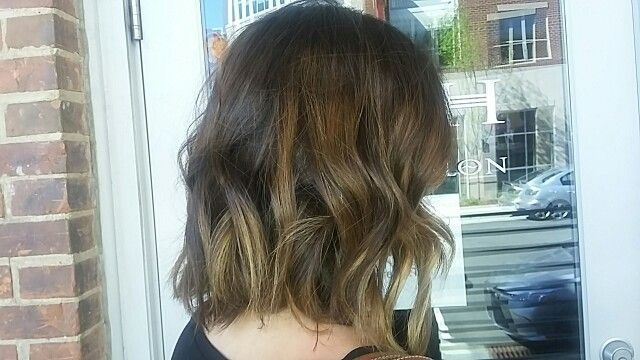 Brunette balayage/ombre inspire a fresh spring feel.    Posh Salon in Durham, NC