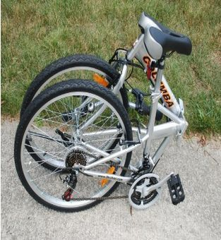 "Folding Bike Columba 26"" Shimano 18 Speed Silver ."