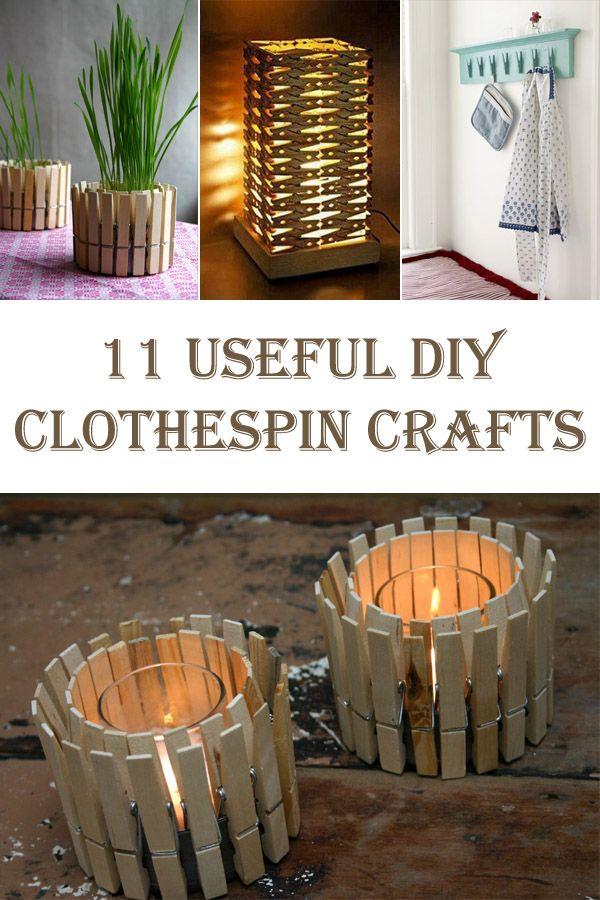 11 Useful DIY Clothespin Crafts