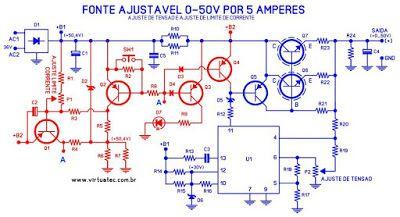 Virtuatec Eletrônica – Eletrônica professionelles und Hobby: Tutorial de montagem F …  – DC power supply