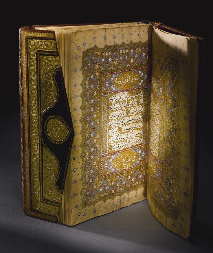 A FINE ILLUMINATED OTTOMAN QUR'AN, COPIED BY AHMED MUHARREM EFENDI, TURKEY, DATED 1113 AH/1701 AD