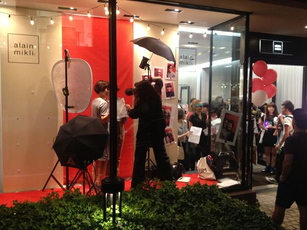 Abi Loves 'Fete du Village' for Vogue Fashion's Night Out at Alain Mikli Shop  Tokyo Aoyama September 2013