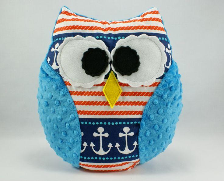 #anchor #blue #kids #forkids #owl #littlesophie #baby #pillow #handmade visit www.littlesophie.pl