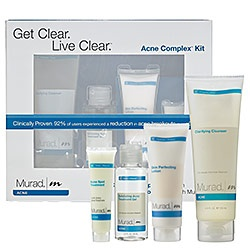 Murad acne line- I LOVE this stuff!! i was able to stop using prescription products when i switched to them!