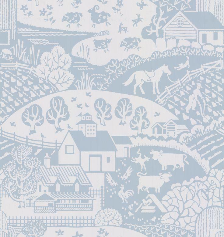 Gable Blue wallpaper by Farrow & Ball