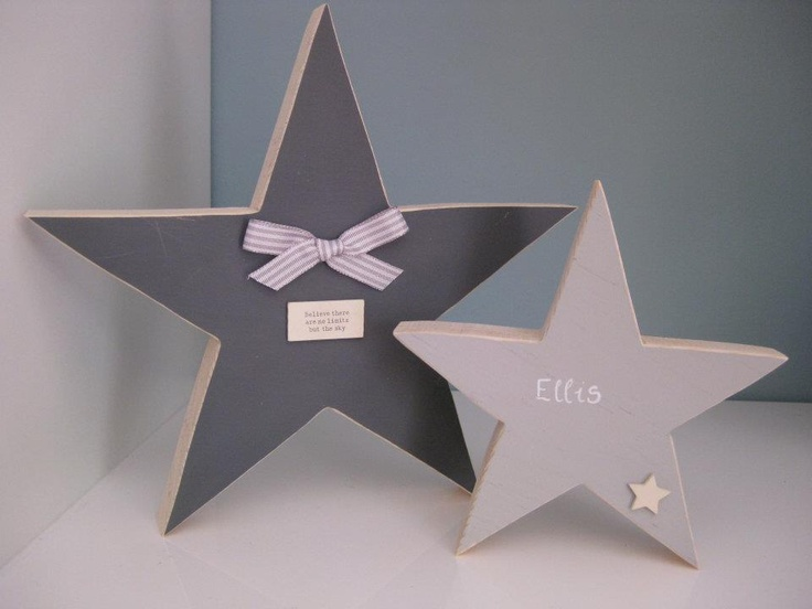 Wooden stars from Three Little Hearts