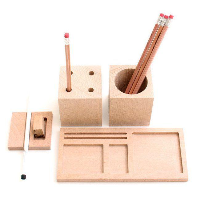 You Could Keep Accessories Neutral Kukka Blocks Desk Set