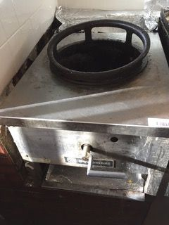 RESTAURANT EQUIPMENT EQUIPMENT ASIAN WOK COOKER, GAS BURNER, 18X36X16