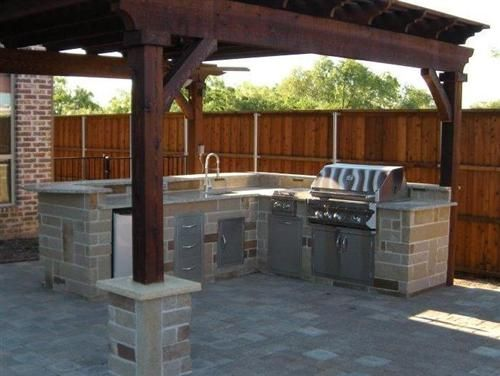 Premier grilling outdoor kitchen experts backyard for Outdoor bbq designs plans
