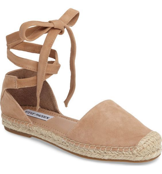 #Espadrilles #Flats Alpargatas surpreendentemente fofas #AnklestrapsHeels   – Ankle straps Heels