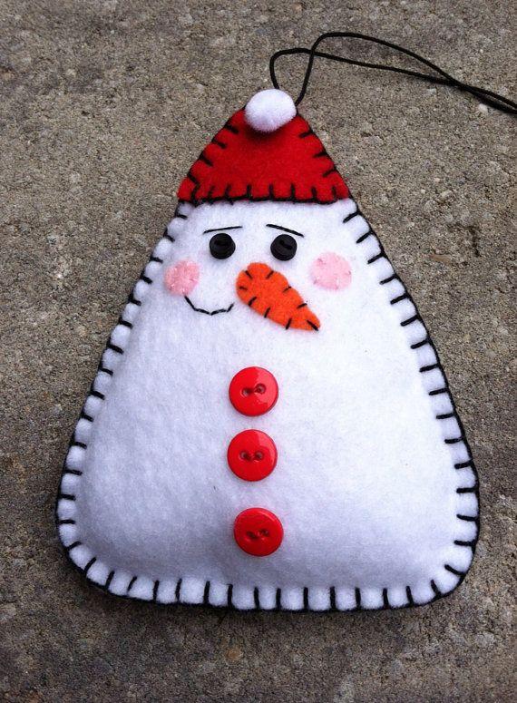 Snowman Felt Doll/Ornament/Pin, www.etsy.com/shop/patsfabriccreations