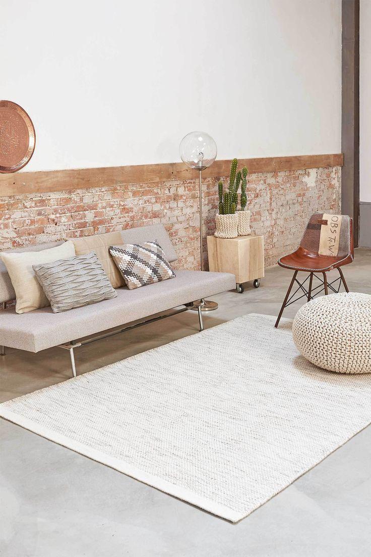 Home Collection Teppe White/Naturel