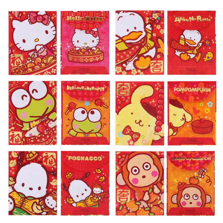 SANRIO KERROPPI/POMPOM/POCCHACO/MONKICHI/KITTY LUNAR YEAR RED POCKET/ ENVELOP  | eBay