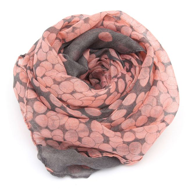 Wholesale 1 HOT Women Lady Winter Autumn Warm Soft Long Pink Grey Dots Voile Neck Large Scarf Wrap Shawl Stole Scarve Pashmina Xmas Gift Online From China
