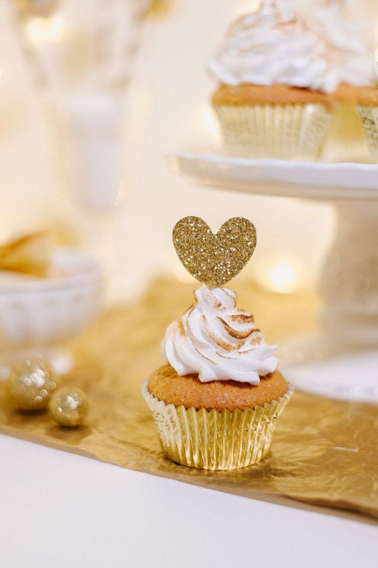 Champagner Cupcakes mit Meringue