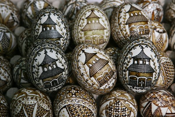 Painted Eggs. Celebrating Easter in Romania