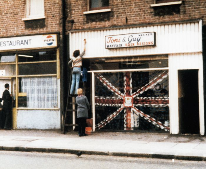 The first ever Toni & Guy #salon - in #Clapham, #London, #1963 - #60s #ToniAndGuy