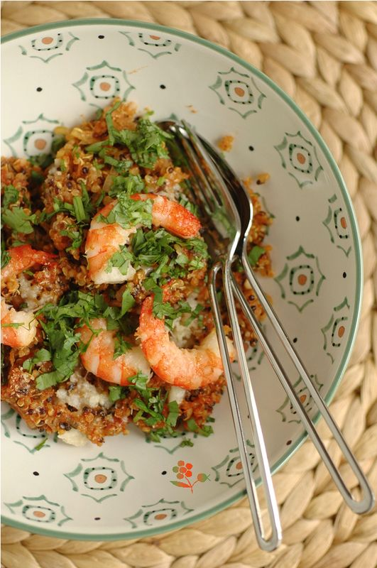 Poêlée quinoa-tomate-épices-crevettes_2