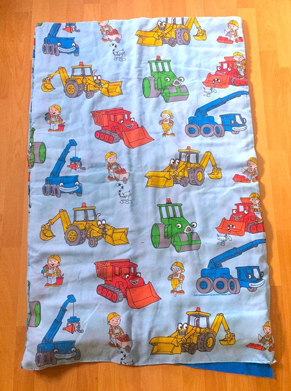 Vintage Bob The Builder Sleeping Bag or Crib Blanket Bedspread!! More Cute Vintage Toys From The 80s & 90s Plus Kawaii Collectables FOR SALE at www.CuteVintageToys.com 💖   G1 My Little Pony, Polly Pockets, Popples, Strawberry Shortcake, Care Bears, Rainbow Brite, Moondreamers, Keypers, Disney, Fisher Price, MOTU, She-Ra Cabbage Patch Kids, Dolls, Blues Clus, Barney, Teletubbies, ET, Barbie, Sanrio, Muppets, Sesame Street, & Fairy Kei Cuteness.... 💖 💖 💖