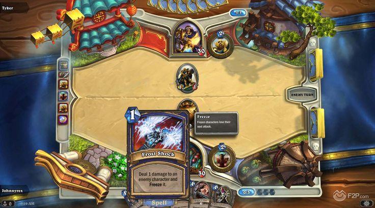 hearthstone game UI