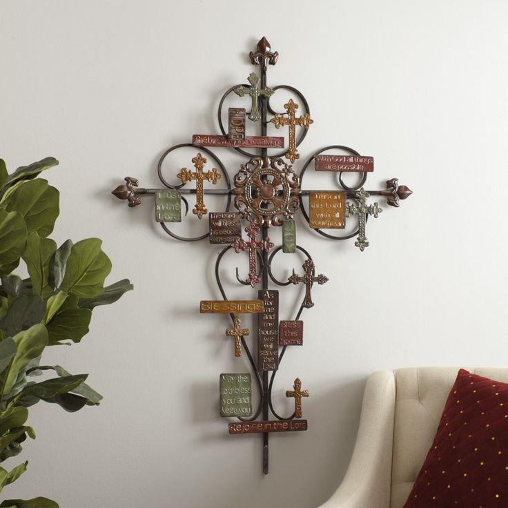 Decorative Wall Cross 28+ [ decorative crosses for the home ] | silver decorative fleur