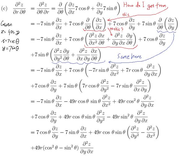 calculus - Trouble simplifying a partial differential equation ...